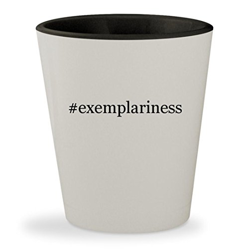 #exemplariness - Hashtag White Outer & Black Inner Ceramic 1.5oz Shot Glass (Early Exemplary Women China Of)