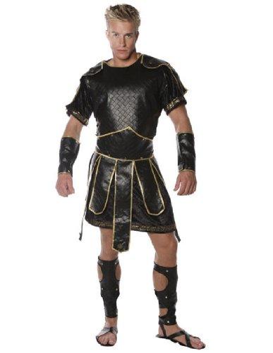 [Underwraps Men's Spartan, Black/Gold, One Size] (Costume Party Ideas For Men)
