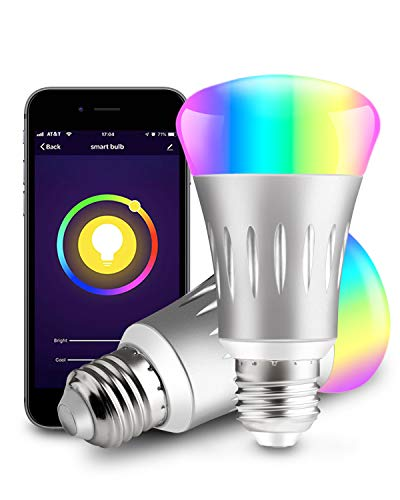 Zenic WiFi Smart Bulb, E27 7W RGB Dimmable LED Smart Light Bulb Compatible  with Amazon Alexa, Google Assistant & IFTTT, Free APP Remote Control, No