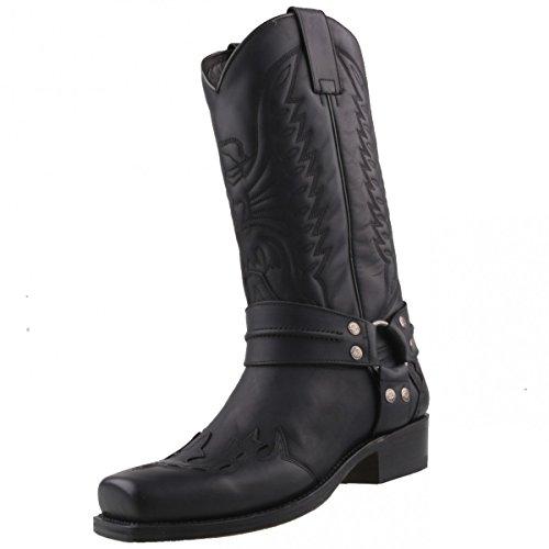 Sendra Boots Bikerstiefel 4980 Schwarz