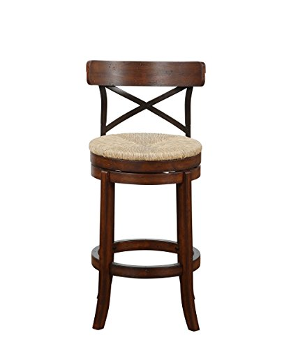 Boraam 76829 Myrtle Bar Height Stool, 29-Inch, Mahogany - Mahogany Bar Stools