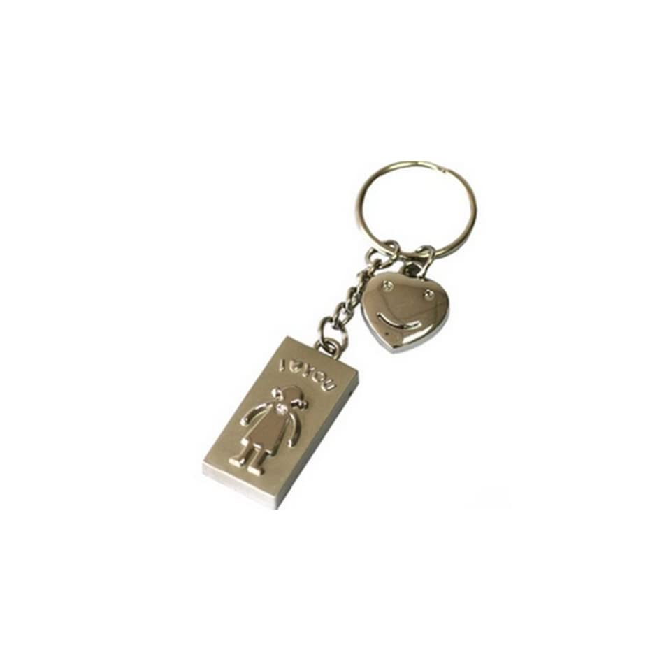 Ayangyang 4gb Cute U disk USB Flash Drive Disk with Keychain Shaped Crystal U Disk Memory Size of 4 G Packet of 2