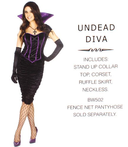 Be Wicked Costume Collection [UNDEAD DIVA] 4pcs - -