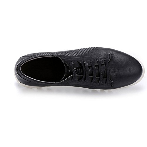 Exterior Shoes Casual Black Moda Conducir Oxford Hombres Spring Transpirable Cómodo Simple De Zapatos Cuero YOxgqad
