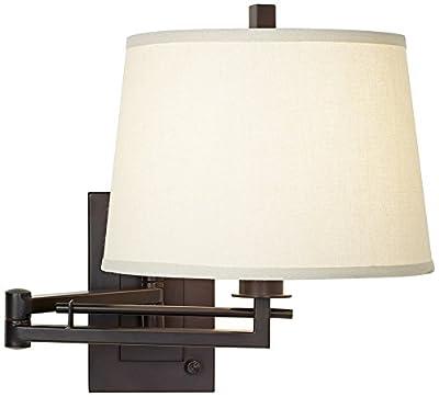Easley Matte Bronze Plug-In Swing Arm Wall Light