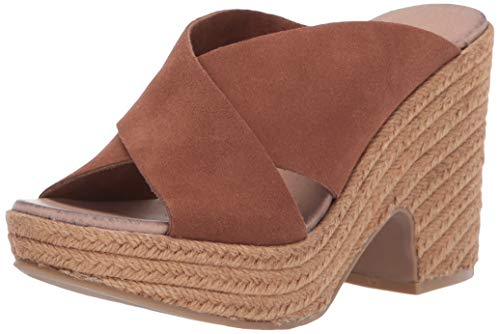 Suede Heels Brown Wedge - Chinese Laundry Women's Quay Espadrille Wedge Sandal Rusty Brown Suede 8 M US