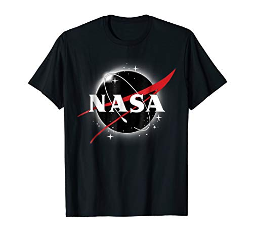 NASA Classic Logo Atop Total Solar Eclipse Graphic T-Shirt