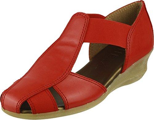 T Slip Shoes Flexx Heel Ladies On Low Summer Red Mr Cashmere The ZRgaxq
