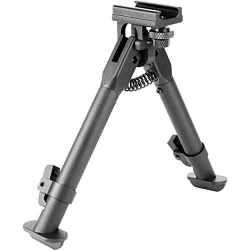 M1SURPLUS Compact Height Adjustable Tactical Rail Mount Bipod Fits Weaver Picatinny Rail Rails And S&W M&P 15-22 Hi-Point Carbine Mossberg 715T Rifles