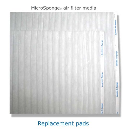 """17 x 35 x 1"""" (4) MicroSponge replacement pads - 1 year supply"""