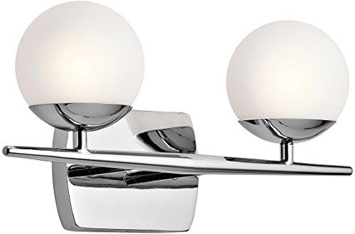 - Kichler 45581CH Jasper 2-Light 2-Arm Bath Vanity in Chrome