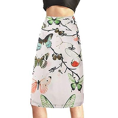Fanii Quare Women's Elastic Knee Length Back Slit Work Stretch Midi Bodycon Skirt