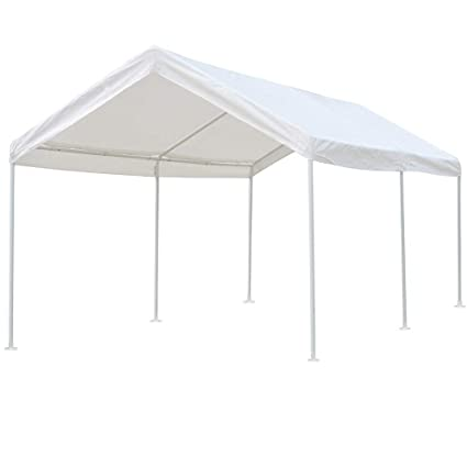 Amazon.com: kdgarden 10 x 20 ft. Carport Car Canopy Portable Garage ...