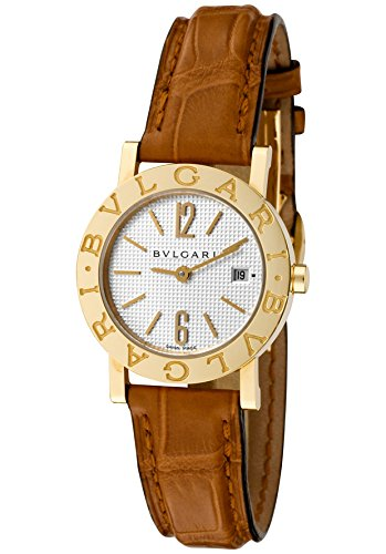 Womens-Bulgari-Bulgari-Off-White-Dial-Brown-Crocodile