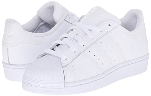 Adidas Originals Superstar Foundation J Casual Basketball-inspired Low-cut Sneaker (Big Kid),whitewhitewhite,4 M Us Big Kid