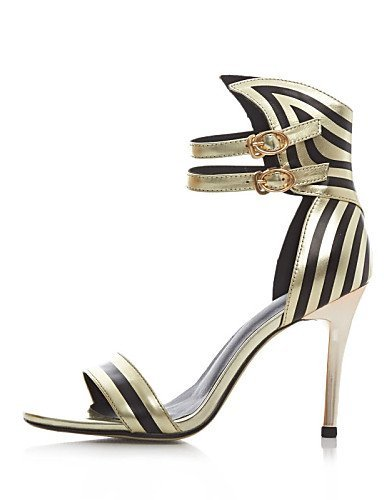 ShangYi Women's Shoes Leather Stiletto Heel Heels / D'Orsay & Two-Piece / Gladiator / Open Toe Sandals Party & Evening / Dress / Silver HeHghb1L