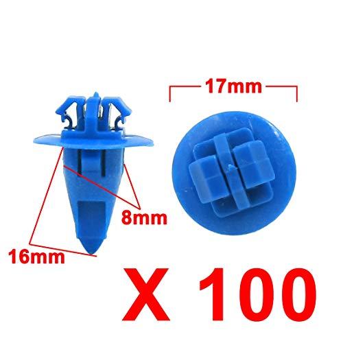 Fastener & Clip Huscus 100Pcs Blue Plastic Rivets Bumper Push Clips Arch Mouldings Fastener 8 X -