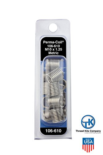 Perma-Coil 106-610 Metric Thread Insert Pack M10X1.25 12PC Helicoil 5542-11 (Perma Coil Kits)