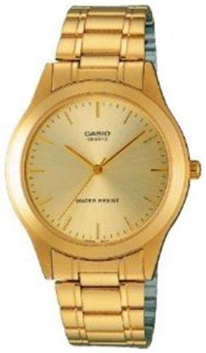 Casio Gold Dial - Casio Men's MTP1128N-9A Gold Gold Tone Quartz Watch with White Dial