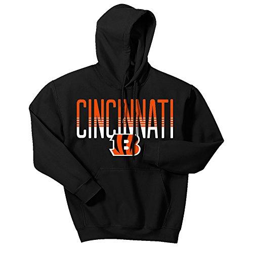 NFL Cincinnati Bengals Men's Zubaz Gradient logo hoodie, Medium, (Cincinnati Bengals Nfl Hoody)
