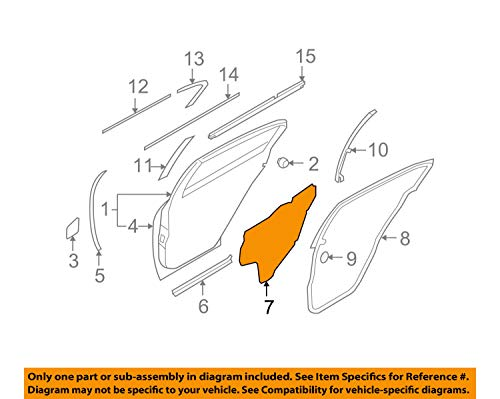Panel Watershields - Nissan Infiniti OEM 09-13 G37 Rear Door-Water Shield Right 82860JK000