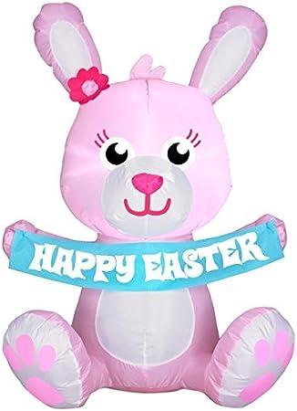 Amazon.com: Gemmy Easter Bunny Airblown - Conejo hinchable ...
