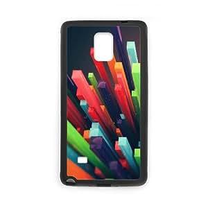 Samsung Galaxy Note 4 Case, 3D Colored Columns Case for Galaxy Note 4 Black leemarson lmsf230642
