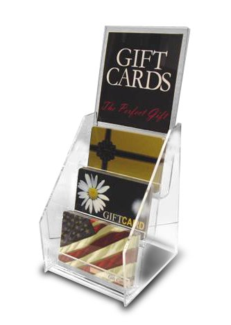 Amazon Com 3 Pocket Gift Card Display With Sign Holder