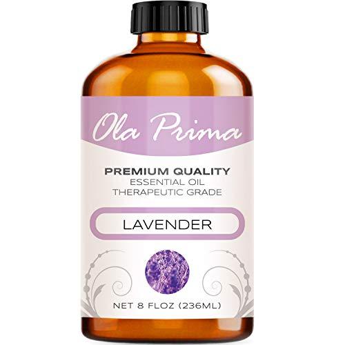 8oz - Premium Quality Lavender Essential Oil (8 Ounce with Dropper) Therapeutic Grade Lavender Oil