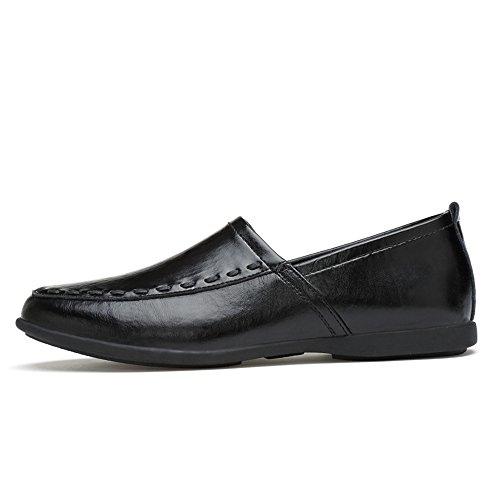 slip Hongjun in da in uomo Mocassino Nero con on 45 vera uomo fodera scamosciata pelle shoes 2018 EU Color Dimensione pelle Mocassini gwSArwqxE