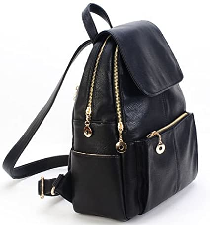 Women Girl Backpack Travel Bags PU Leather Handbag Rucksack Shoulder School Bag