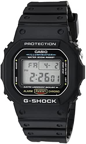 G-shock DW5600E-1V Men's Black Resin Sport Watch