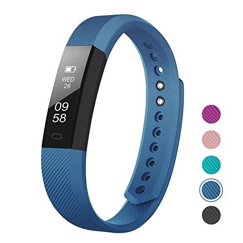 Fitness Tracker, LETSCOM Fitness Tracker Watch with Slim Touch Screen and Wristbands, Wearable Activity Tracker as Pedometer Sleep Monitor, Blue for Android and iOS