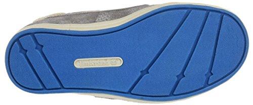 Timberland Unisex Baby Dover Bay H&l Boatsteeple Grey With Mykonos Blue Lauflernschuhe Grau (Steeple Grey with Mykonos Blue)