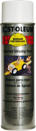 Rust-Oleum 2391838 High Performance 2300 System Inverted Stripe Paint Spray, 18-Ounce, - Paint Marking Traffic