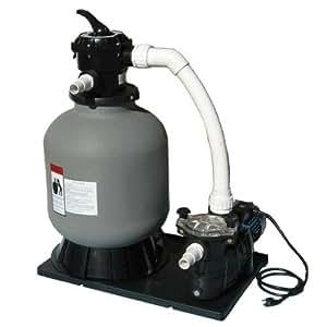 Sand filter system complete 175lb sand for Pond sand filter system