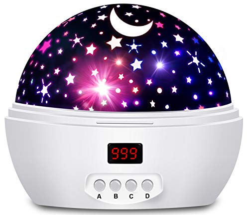 - Night Lights for Kids, Multi Colors Star Projector with Timer and Rotation for Kids and Baby Bedroom, Best Night Light to Stimulate Kids Plenty of Imagination (Purely White)