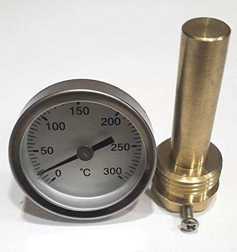 Termómetro para Puerta de hornos de leña, Escala de 0 a 300ºC con ...