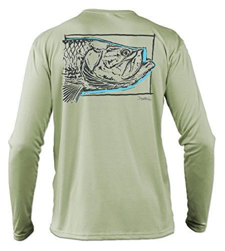 (Salinity Gear Performance Fishing Shirt- UPF 50+ Dri-Fit Shirt (Small, Sage Tarpon) )