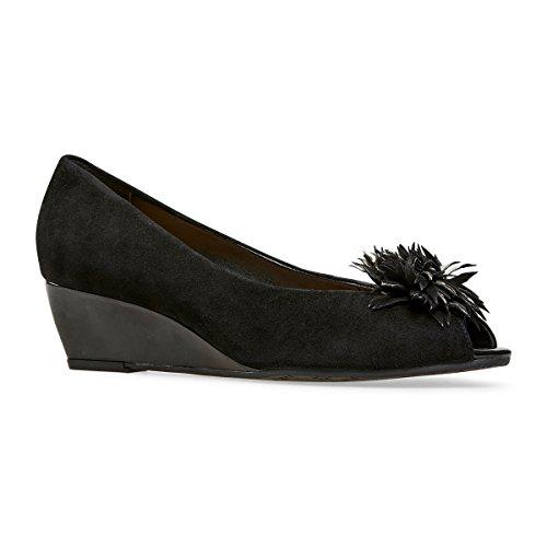 Dal Van Noir Kingswood Femme Ouvert Bout Black Patent Suede dq1c7q