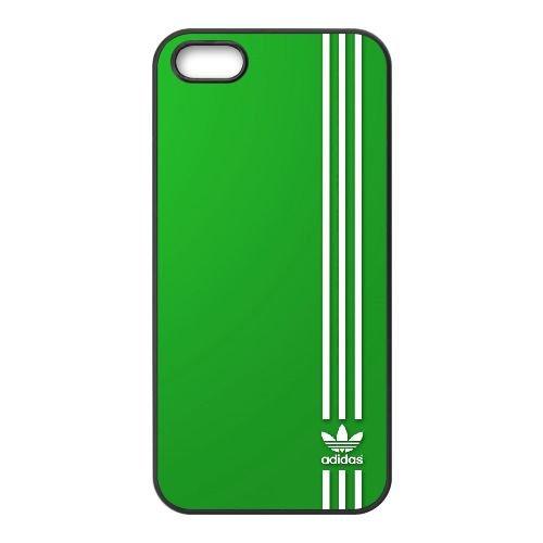 S3W76 logo adidas de sport vêtements de chaussures bande R5F7YE coque iPhone 5 5s cellulaire cas de téléphone couvercle coque noire WX9PJF4GQ