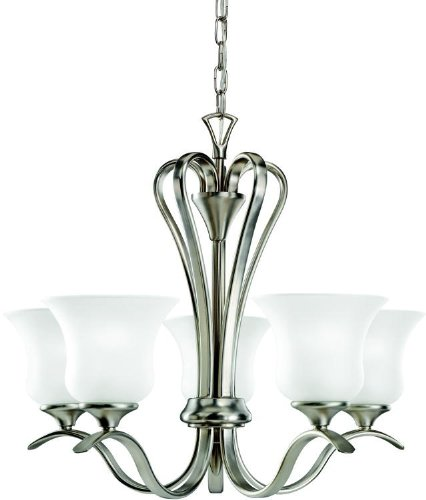 Kichler 10740NI Wedgeport Chandelier 5-Light Fluorescent, Brushed Nickel