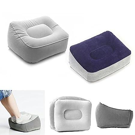 Viaje PVC Aire Libre hogar Coj/ín Hinchable port/átil para Descansar los pies reposapi/és relajantes Alextry Leg up Herramienta Oficina