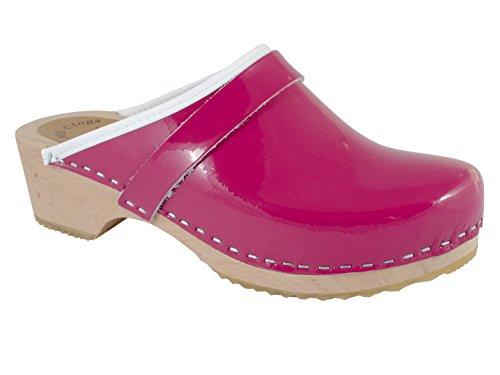 Lacklederclogs pink