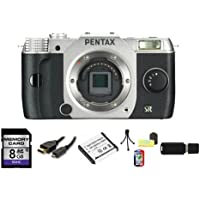 Pentax Q7 Compact Mirrorless Camera Body (Silver) Bundle 1