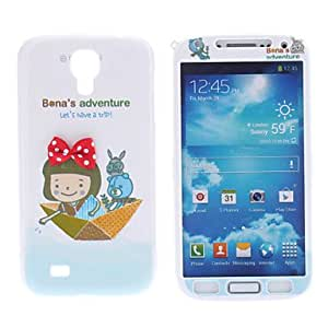 hello Ship Pattern Protective Hard Front and Back Case for Samsung Galaxy S4 I9500