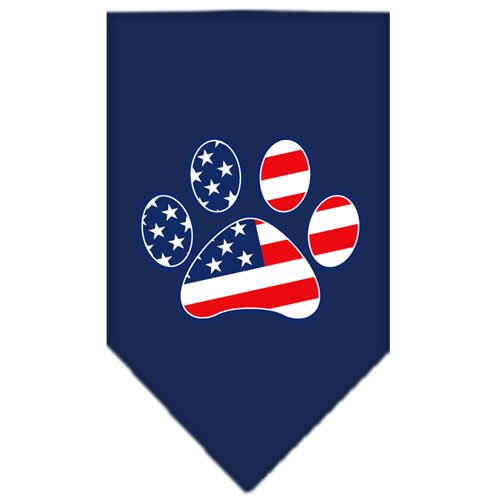 Patriotic Paw Screen Print Bandana Navy Blue Small by Mirage Pet Products (Image #2)