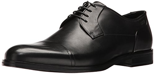HUGO by Hugo Boss Men's Temptation Lace up Derby In Nappa Leather Work Shoe, Black, 8 UK/9 M - Hugo Uk Shop Boss