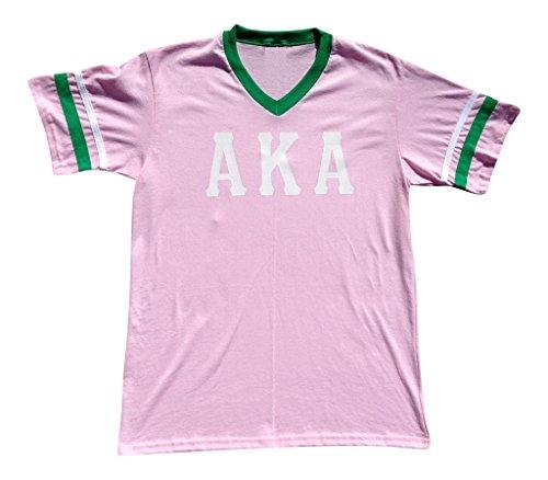 (Mega_Greek Womens Alpha Kappa Alpha Stripe Sleeve Jersey Small White)