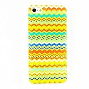ZXM-Patrón de la tira colorida moda de plástico duro caso para iPhone 5/5S , Multicolor